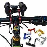 Bicycle Bike Carbon Fiber Double Handlebar Mount Extension Computer Lights