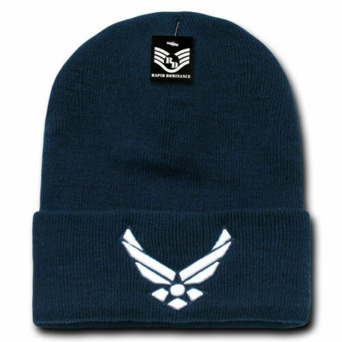 Long Cuffed Warm Winter Military Beanie Stocking Cap USAF Navy Coast Guard