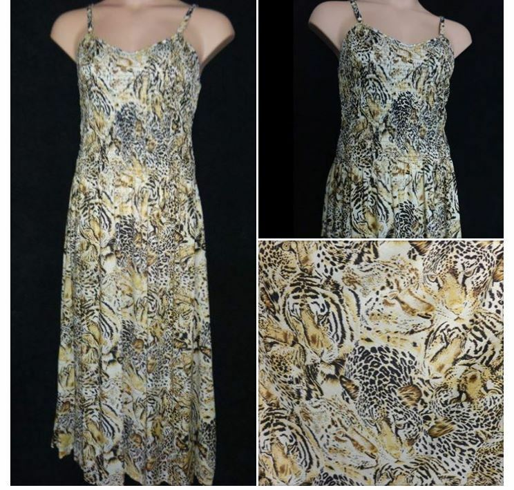 FRANKEN goldEN Thin strap SUMMER MAXI DRESS HOLIDAY TEA PARTY Plus SIZE 20 - 22