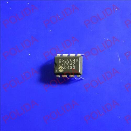 5PCS Eeprom Ic MICROCHIP DIP-8 25LC640-I//P 25LC640