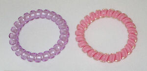 Swirly Do Hair Ties Pink Purple (2) Tangle Free Ponytail New ... 43d20f382d5