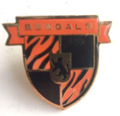 92c835e8 Cincinnati Bengals Metal Coat of Arms Shield Pin Vintage 1994 NFL ...