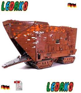 CUSTOM-Bauanleitung-MOC-Santcrawler-UCS-LEGO-Steinen-STAR-WARS-Keine-Steine
