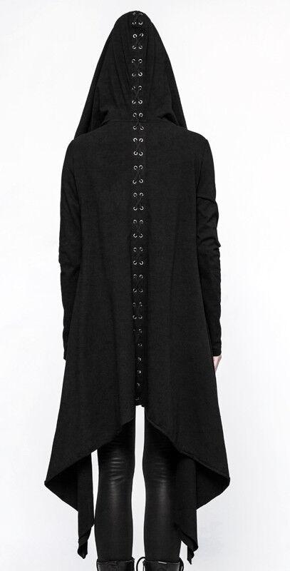 EN STOCK Veste asymétrique hoodie gothique punk punk punk lolita capuche laçages PunkRave 0f1671