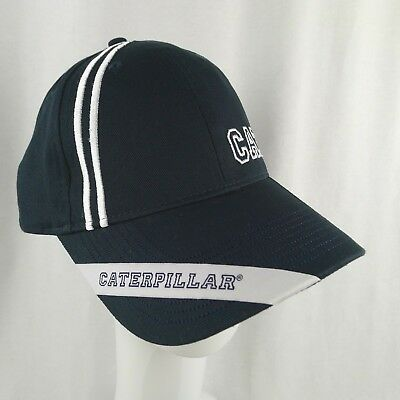 Caterpillar Black Trucker Hat Licensed White CAT Logo 100/% Cotton Brand NEW