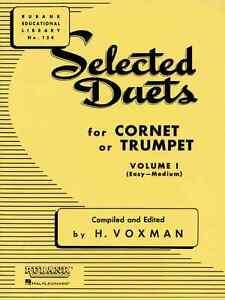 """Logique Rubank """"selected Duos"""" Volume 1 Pour Cornet/trompette Musique Livre Neuf En Promotion-afficher Le Titre D'origine"""