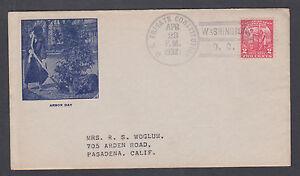 US Mel 717-28 Second Day Cover 1931 Arbor Day, A.E. Gorham cachet, USS Frigate
