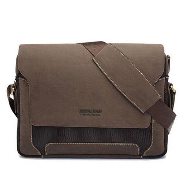 Men S Vintage Canvas Business Style Briefcase Bag Handbag Shoulder Messenger