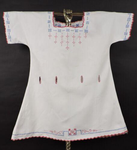 ANTIQUE EDWARDIAN HAND EMBROIDERED CHILD'S DRESS … - image 1