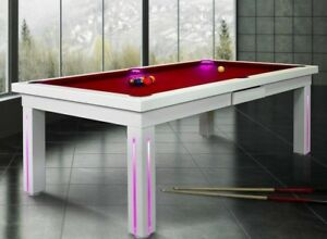 Details About 7 Vision Convertible Modern Pool Billiard Table Dining Office Fusion New York