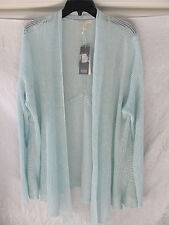 Eileen Fisher Open Front Cardigan Sweater-Linen Delave-Dewberry-Size 3X-NWT $298