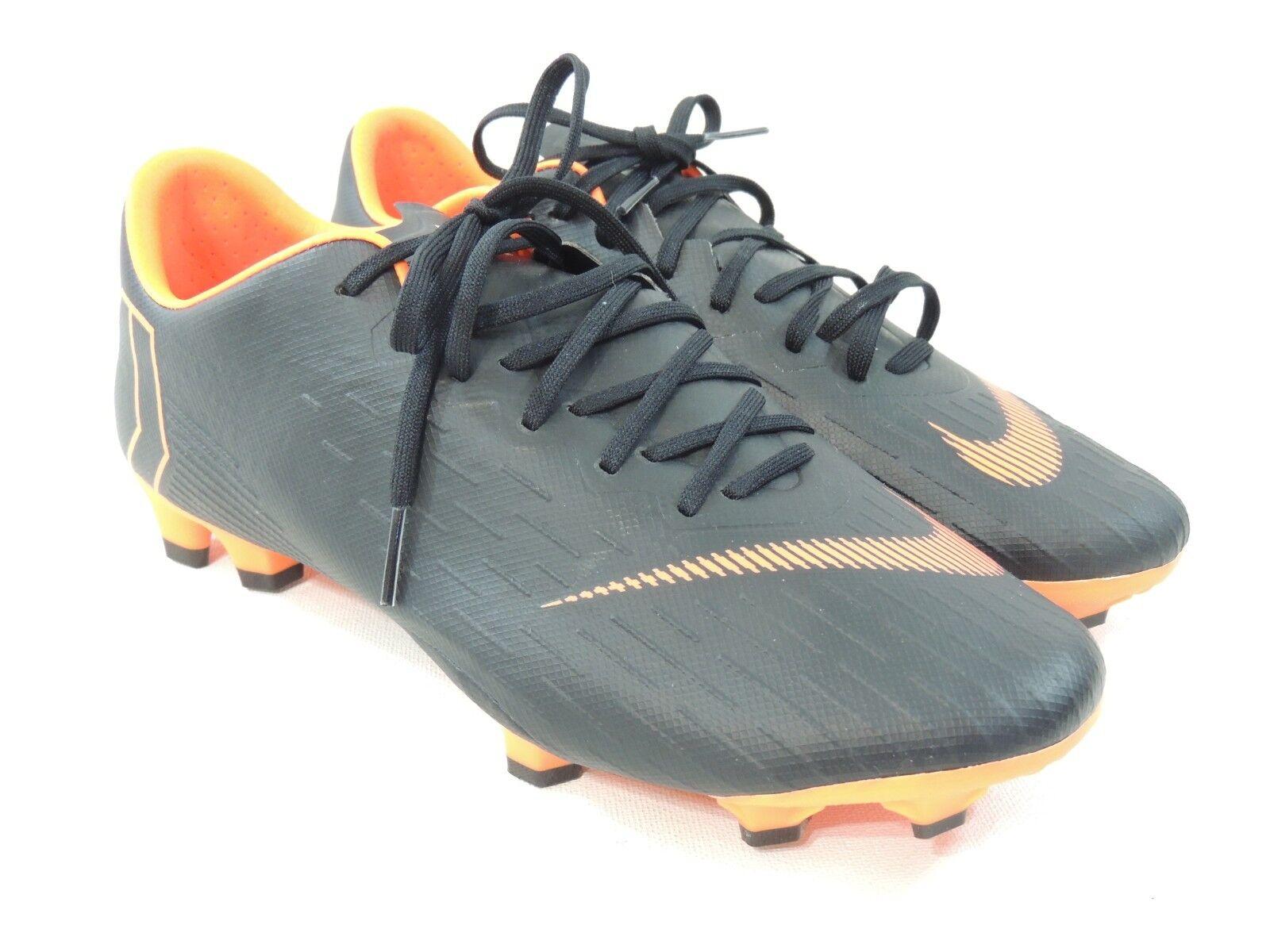 d6604a4ddb16 Nike Mercurial Vapor XII Pro Pro Pro FG Soccer Cleats Black orange  AH7382-081 Size