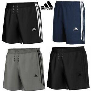 ADIDAS-Essential-3-Stripe-Chelsea-Pantaloncini-da-uomo-originale-ClimaLite-Pantaloncini-Da-Palestra