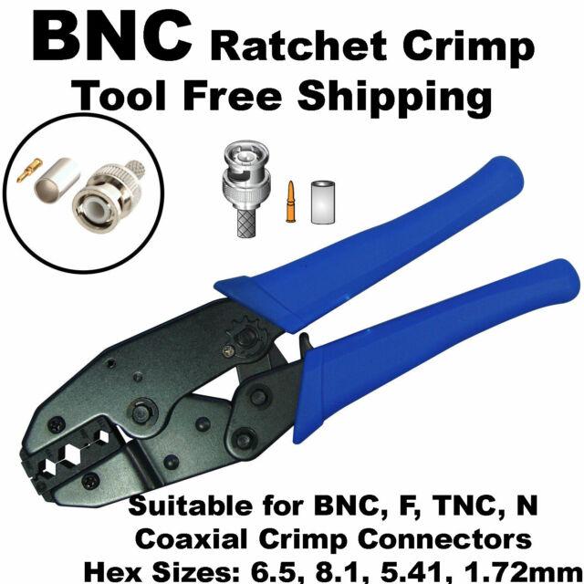 BNC crimp tool RG59 Coax Coaxial Cable Hex Crimper BNC RG59 RG6 F type connector