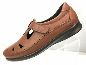 SAS-Roamers-Tripad-Comfort-Brown-Leather-Soft-Step-Shoes-Women-039-s-Size-9N
