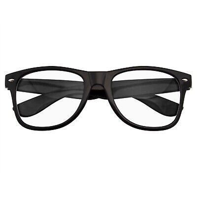 2 Pair Vintage Clear Lens Nerd Glasses Mens Womens Half Metal BlackS