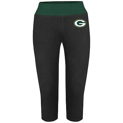 BRAND NEW! NFL GREEN BAY PACKERS  Rival Order Crop Yoga Capri Pants Women's