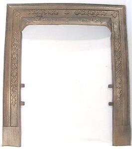 ANTIQUE ORNATE FLORAL DESIGN VICTORIAN CAST IRON FIREPLACE DOOR ...