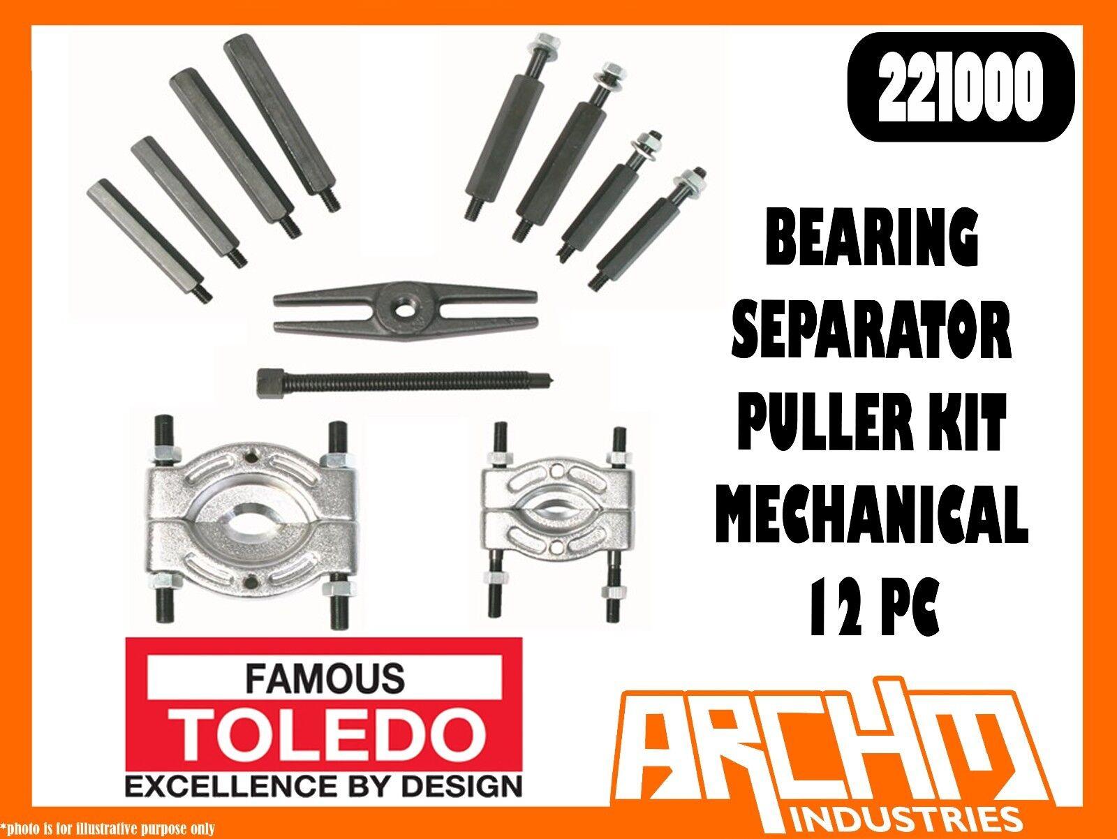 TOLEDO 221000 - BEARING SEPARATOR PULLER KIT MECHANICAL 12 PC - SMALL MEDIUM