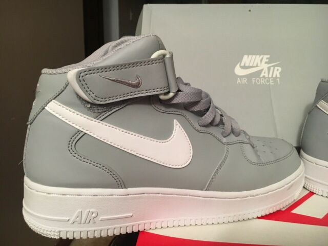 online store e66fc aa118 Nike Air Force 1 Mid 07 Af1 Men Lifestyle Casual SNEAKERS Wolf Grey White 8