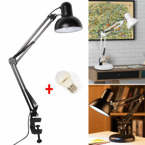 Long arm desk lamp work reading adjustable folding clip on led image is loading long arm desk lamp work reading adjustable folding aloadofball