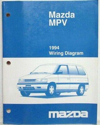 1994 Mazda MPV Electrical Wiring Diagram | eBay