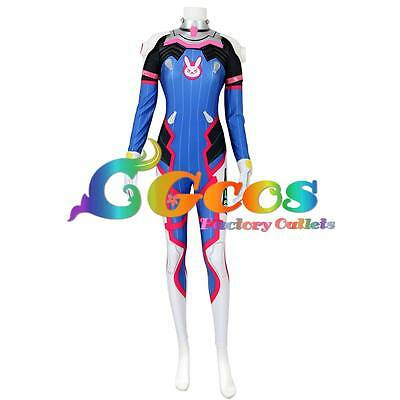 Free Shipping Cosplay Costume D.VA Zentai Catsuit Suit Spandex Bodysuit Hot