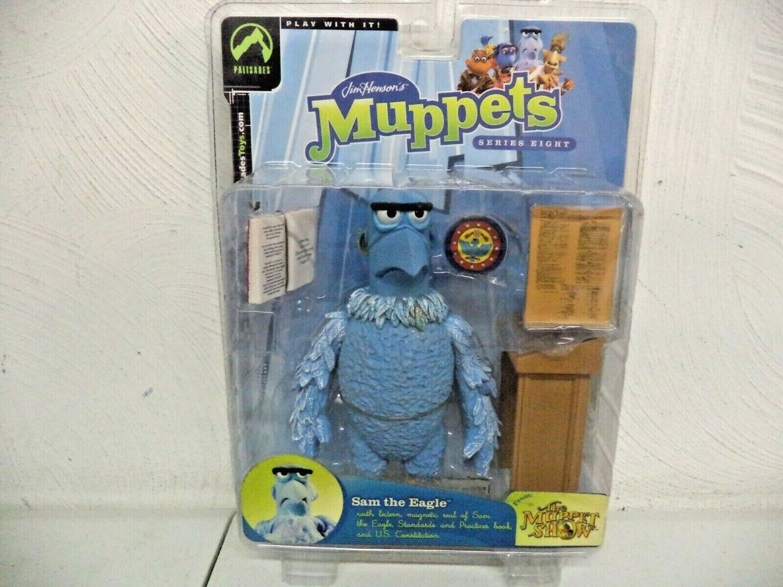 2004 - PALISADES TOYS - MUPPETS - SERIES EIGHT - SAM THE EAGLE (REG EYE) - NEW
