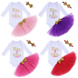 c4318aaa177f Image is loading Baby-Girl-1st-Birthday-Princess-Tutu-Dress-3pcs-