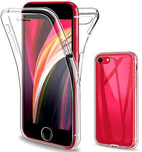Coque Intégrale iPhone 7, 8 et SE 2020 Protection 360 Full Transparente Antichoc