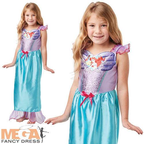 Sequin Princess Ariel Girls Fancy Dress Disney The Little Mermaid Kids Costume