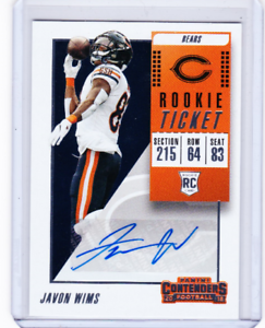 7064d9d6080 Image is loading 2018-Contenders-Football-Rookie-Ticket-Auto-218-Javon-