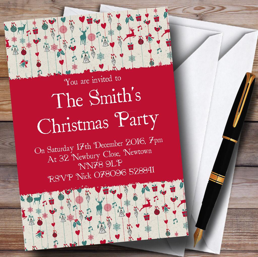 Renne accrocher des décorations invitations personnalisées personnalisées personnalisées fête de Noël e9a307