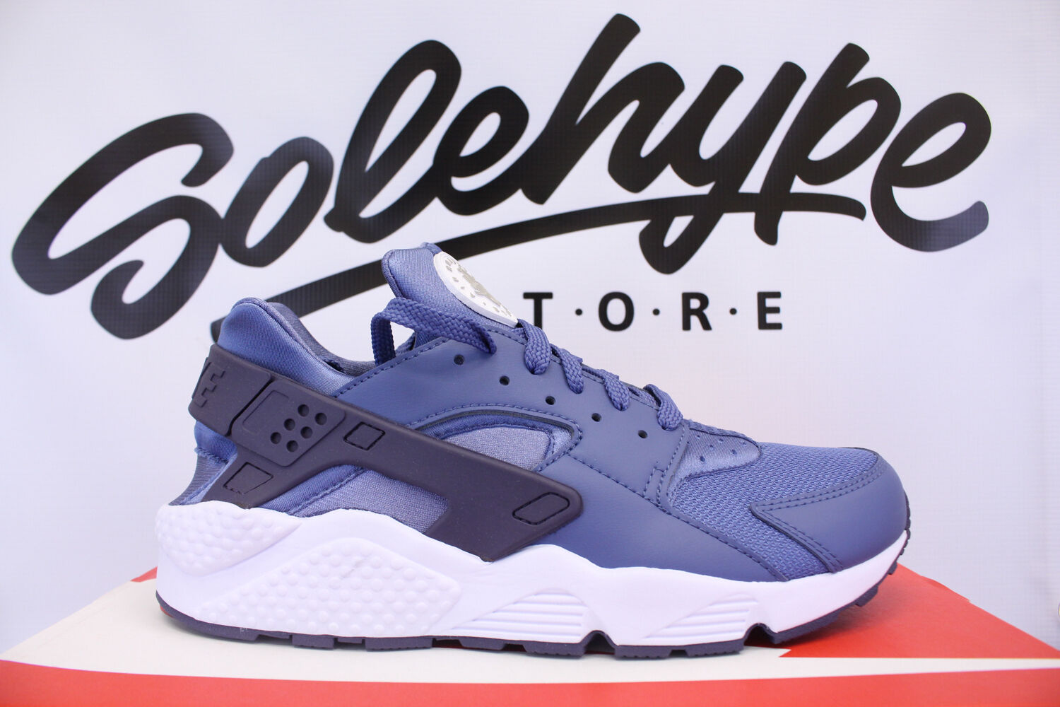 NIKE AIR HUARACHE RUN Bleu MOON PALE gris DARK RAISIN 318429 414 SZ 8