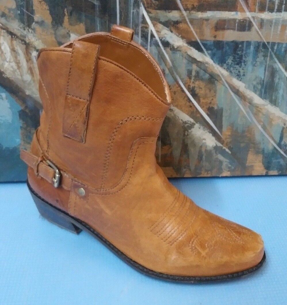 FRANCO SARTO WOMEN'S WESTERN BOOTS BROWN SIZE 6.5 M STYLE WACO  32220200 LEATHER