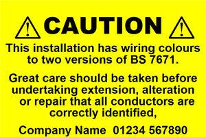 Phenomenal Mini Personalised Caution Harmonised Labels Mixed Wiring 76 X Wiring Digital Resources Inamasemecshebarightsorg