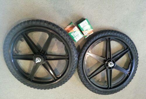 """Nouveau 20/"""" Arts Martiaux Gear Wheels 6 Spoke Noir Pneus tubes pour GT DYNO HARO ou BMX Vélos"""