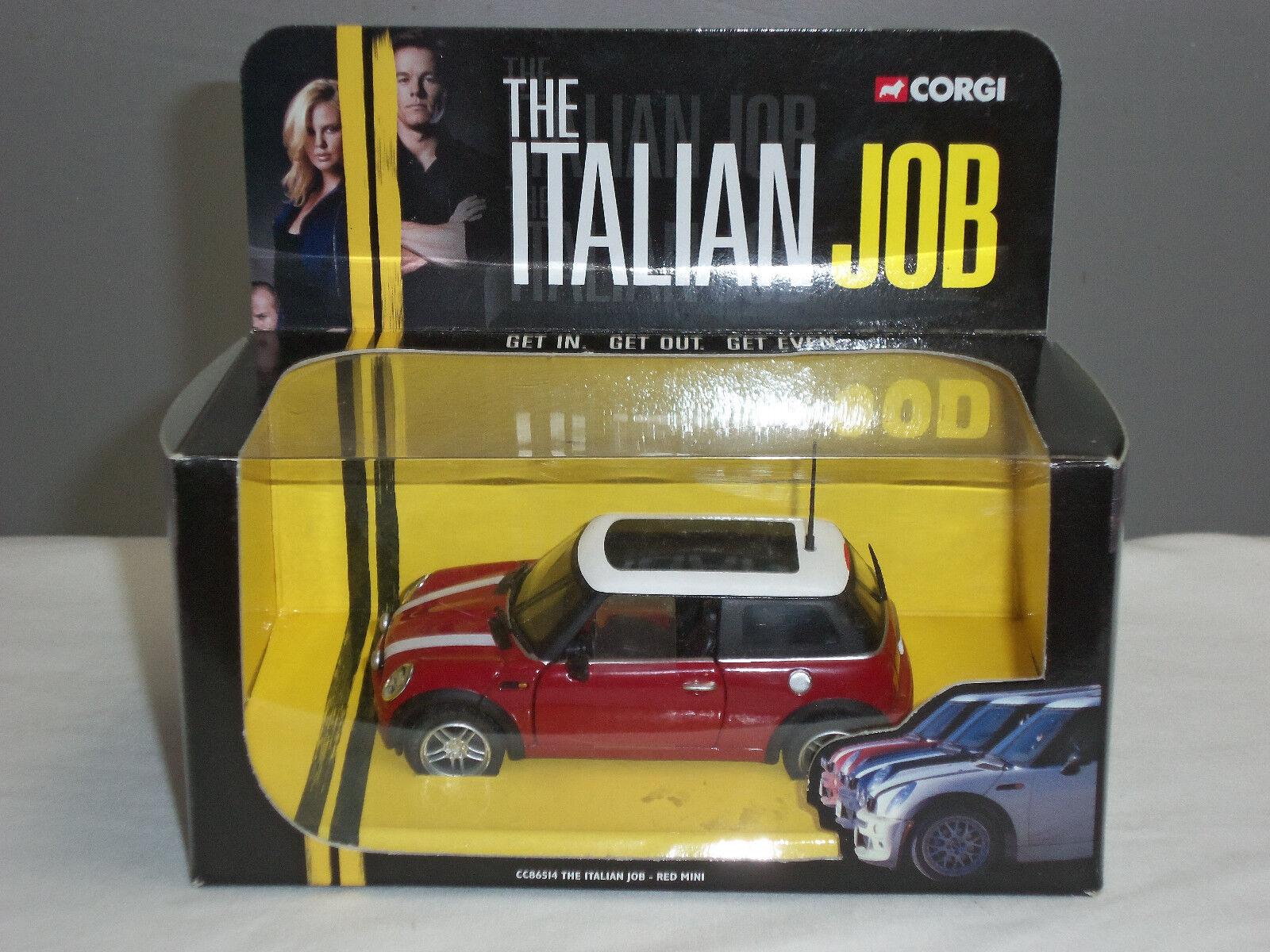 CORGI CC86514 Italian Job FILM MOVIE ROSSO BMW MINI COOPER MODELLO DIECAST AUTO