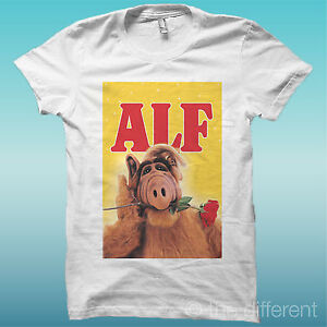 T-SHIRT-034-TELEFILM-ALF-034-BIANCO-THE-HAPPINESS-IS-HAVE-MY-T-SHIRT-NEW