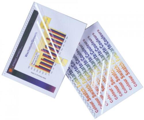 PVC 0,20 mm DIN A4 GBC Einbanddeckel HiClear glasklar