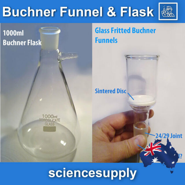 filter Flask 1000 ml and buchner funnel 100 ml fritted glass **fast delivery**