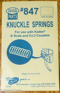 Kadee #847 Knuckle Springs 12 in pkg. (for use with S Scale & On3)
