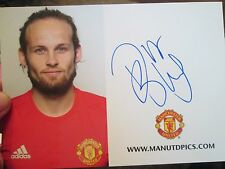 Daley Blind Manchester United Signed Football Photo Club Card Holland /bi