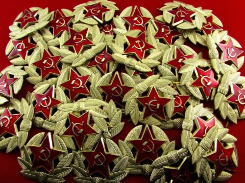 Soviet Military Russian Army USSR Red Star Hat Pin Badge 100 Pieces