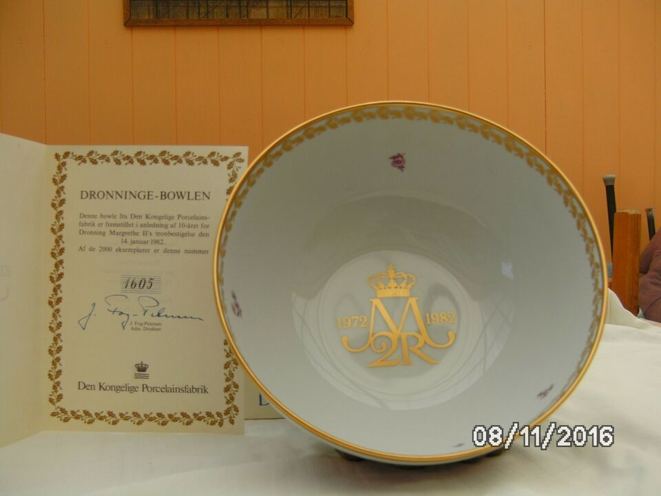 Porcelæn, dronninge-bowlen