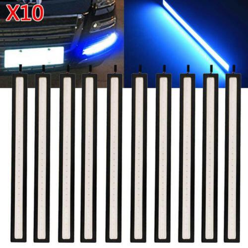 10Pcs 12V LED Strip DRL Daytime Running Lights Fog COB Car Lamp Blue Day xvz