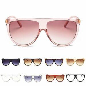 Fashion-Women-Mirror-Square-Flat-Top-Cat-Eye-Sunglasses-Oversized-Eyewear-UV400