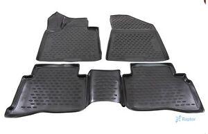 Fußmatten für Kia Sportage ab 2015 3D Passform Hoher Rand Gummimatten Schwarz