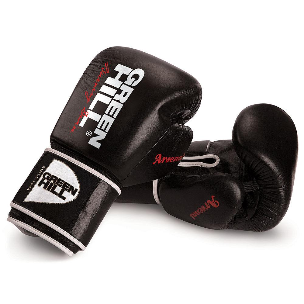 Grünhill Leder Boxing Gloves Arsenal Arsenal Gloves Training Sparring Muay Thai UFC MMA Figh 919fdb