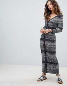 21c9df8e72d1 NWT Free People Black Cozy Up Cardigan Maxi Sweater Dress Sz. Small ...